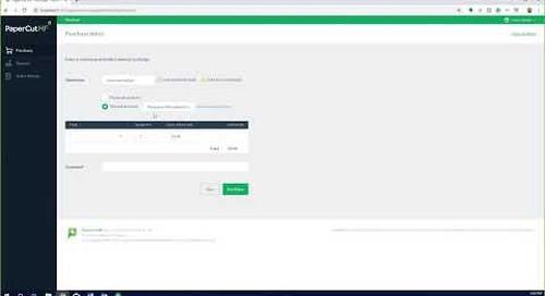PaperCut Web Cashier o Cajero