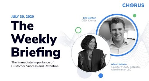The Weekly Briefing - The Immediate Importance of CS and Retention