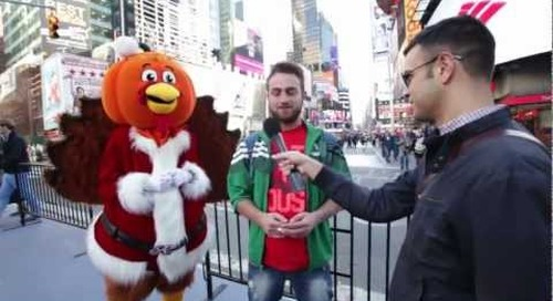 RetailMeNot: Pumpkin-Headed Turkey Claus goes to Times Square