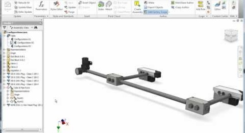 Autodesk Inventor: Tube and Pipe iAssembly Interchange Sets