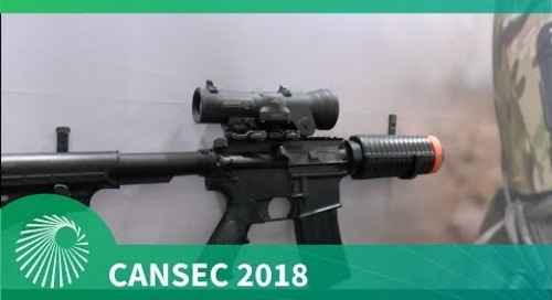 CANSEC 2018: Raytheon Specter DR dual role military tactical weapon sighting systems