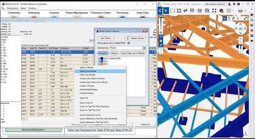 Production Control: Accessory Finish Enhancements in Tekla EPM 2019i
