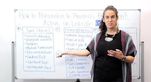 How to Personalize to Prospects That Aren't Active on LinkedIn (ft. Becc Holland)