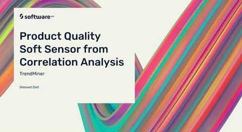 Product Quality Soft Sensor from Correlation Analysis
