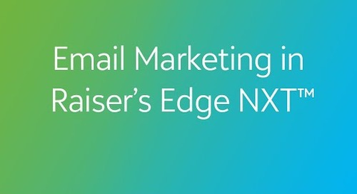 Raiser's Edge NXT - Email Marketing