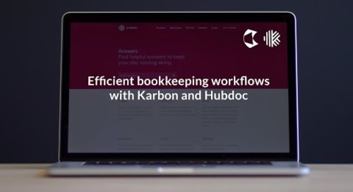 Efficient Bookkeeping Workflows with Karbon and Hubdoc