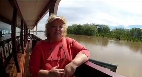Traveller Aboard Amazon River Cruise with International Expeditions