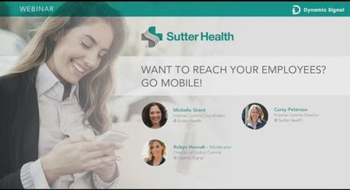 Internal Communication Tools - How Sutter Health Focuses on Mobile [Webinar Highlights]