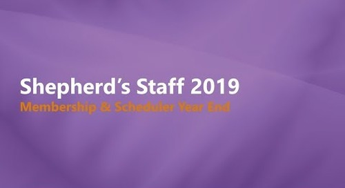 Shepherd's Staff Membership and Scheduler Year End Process