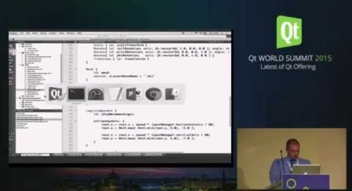 NEW- QtWS15- Building Desktop and Embedded Uis with Qt 3D, Sean Harmer, Dr , KDAB