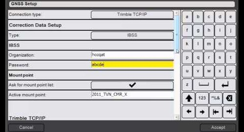 8. Trimble DPS900 V1.2 - GNSS Setup: Using IBSS corrections