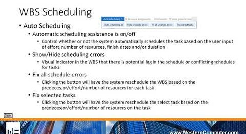 Work Breakdown Structure Scheduling in D365 for Finance and Operations