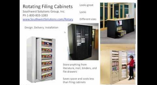 Rotary File Cabinets Rotating Filing Cabinet How It Works