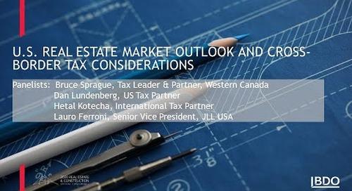 U.S. real estate market outlook & cross-border tax considerations | BDO Canada
