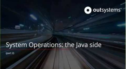 System Operations: the Java side - part 2