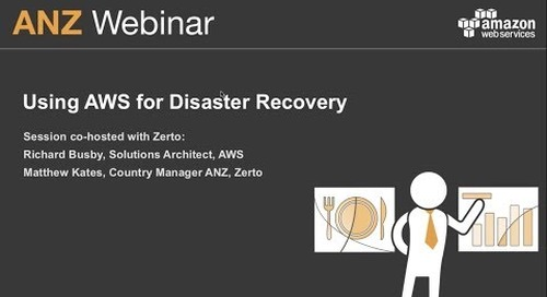 Using AWS for disaster recovery
