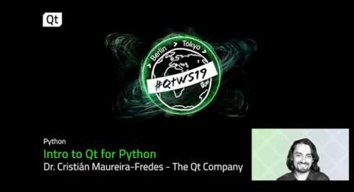 Qt for Python; an introduction