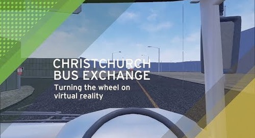 Christchurch Bus Interchange virtual reality simulator