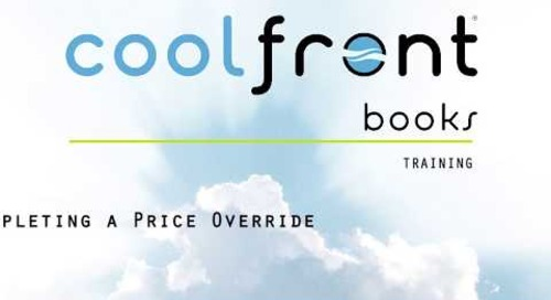 Coolfront Books - Completing a Price Override