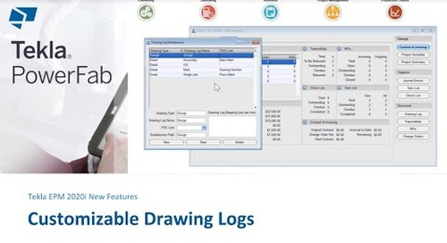 Better Management of Drawings in Tekla EPM 2020i