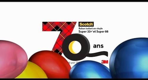 Joyeux 70e anniversaire au ruban isolant 3M