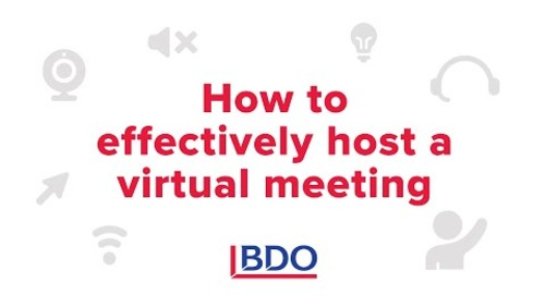 How to effectively host a virtual meeting | BDO Canada