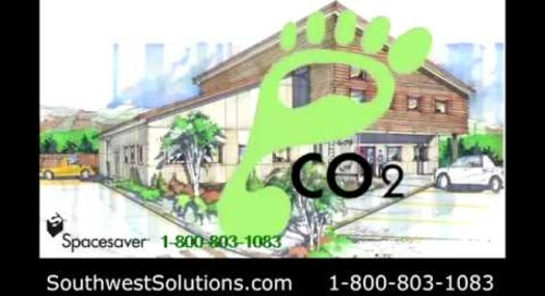 High Density Mobile Sustainable LEED Shelving Reduces Carbon Footprint