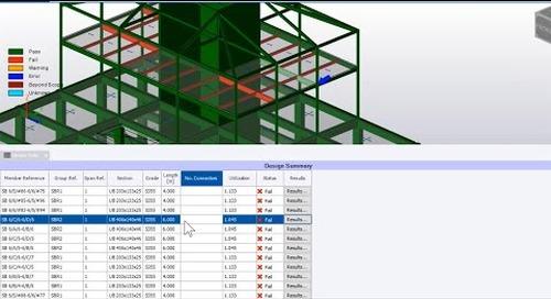 Enhanced Tabular Data with Tekla Structural Designer