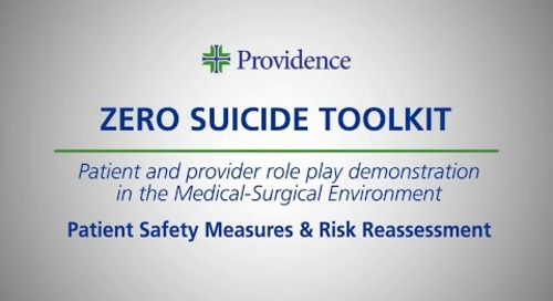 Zero Suicide Toolkit: Med.Surg.3- Safety Measures