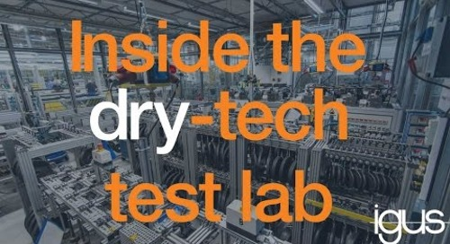 igus dry tech test lab