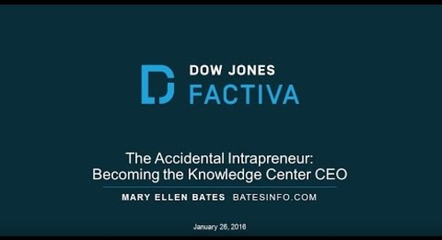 Webinar - The Accidental Intrapreneur: Becoming the Knowledge Center CEO