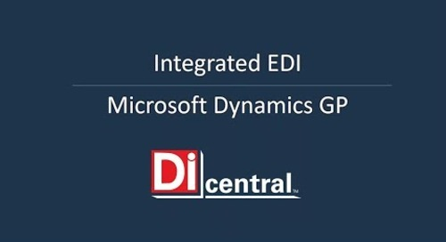 DiCentral's Integrated EDI solution for Microsoft Dynamics GP