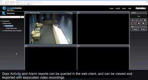 Security Center Web Client – Access control walk-through