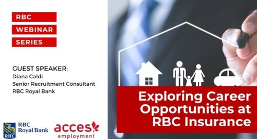 RBC Royal Bank Webinar | Exploring Career Opportunities at RBC Insurance
