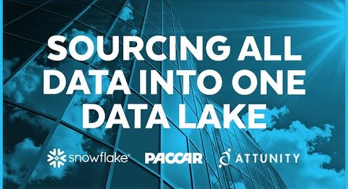 Paccar - Sourcing All Data Into One Data Lake with Snowflake and Attunity