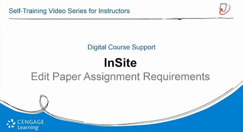 InSite2: Edit Paper Assignment Requirements