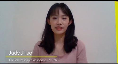 Meet Judy Jhao - Clinical Research Associate II