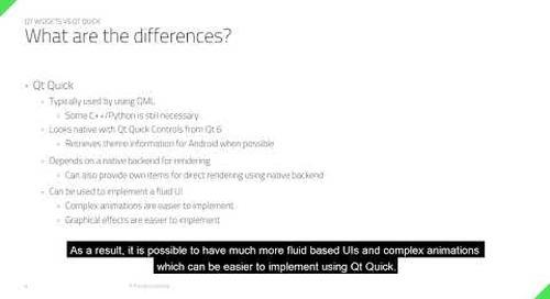 Qt Widgets or Qt Quick