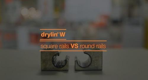 drylin® W - square rails vs round rails