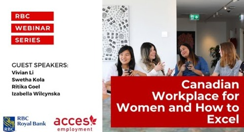 Canadian Workplace for Women and How to Excel Panel discussion by RBC