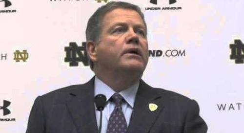 Notre Dame Head Coach Brian Kelly (ASU week)