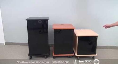 Deluxe AV Mobile Rack Enclosures | Rolling Multimedia Storage Racks