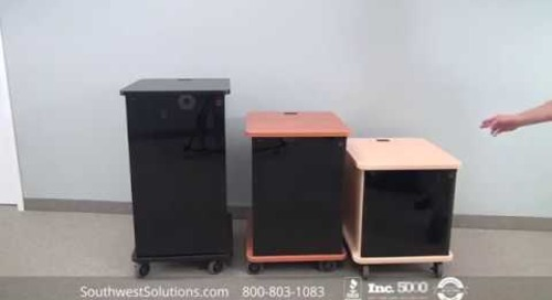 Deluxe AV Mobile Rack Enclosures   Rolling Multimedia Storage Racks