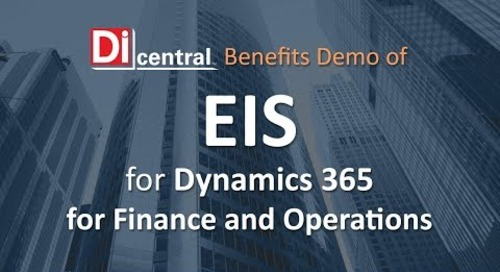 EIS for Microsoft Dynamics 365 for Finance and Operations
