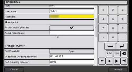 7. Trimble DPS900 V1.2 - GNSS Setup: Using Internet (VRS) Corrections