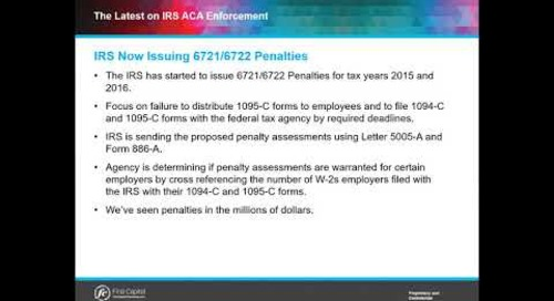 What are 6721/6722 ACA Penalty Assessments?