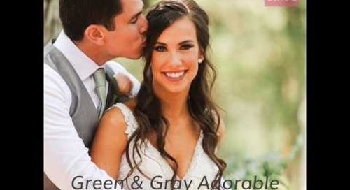 Green & Gray Adorable Fall Wedding | The Pink Bride