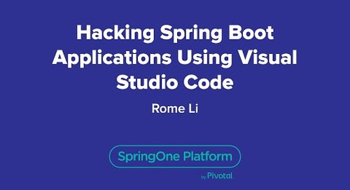 Hacking Spring Boot Applications Using Visual Studio Code