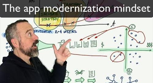 Tanzu Talk: The right mindset for starting application modernization