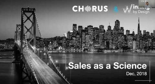 Sales as a Science Webinar